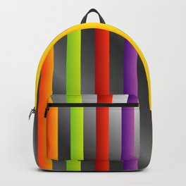 Colorful and shiny stripes on metal Backpack