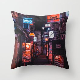 Golden Gai Tokyo Bar Crawl Throw Pillow