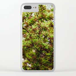 Fresh Japanese Maple Clear iPhone Case