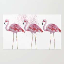Three Flamingos #society6 Rug