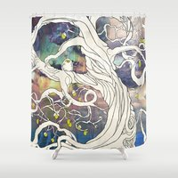 lime Shower Curtains featuring Lime Tree by KATIE PAYNE