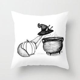 Witch Slug Throw Pillow