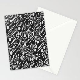 White Olive Branches Stationery Cards