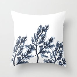 Blue branches Throw Pillow