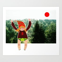 Little wood beastie Art Print