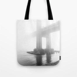 Verrazano Bridge: Divided by the Fog Tote Bag