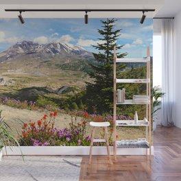 Mt. St. Helens wildflowers Wall Mural