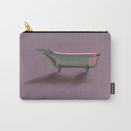 Bathtub Vintage Retro Art Deco// Shower Curtain Carry-All Pouch