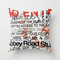 downton abbey Throw Pillows featuring Abbey by JoFar
