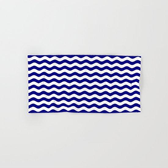Wavy Stripes (Navy Blue/White) Hand & Bath Towel