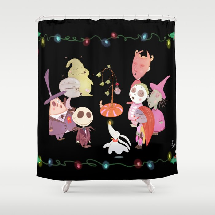 Its A Very Nightmare Before Christmas Jack Skellington Shower Curtain
