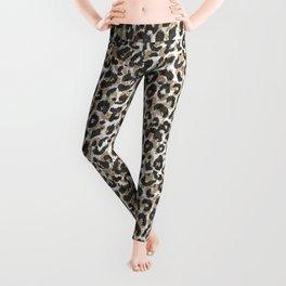 Elegant gold leopard animal print pattern Leggings