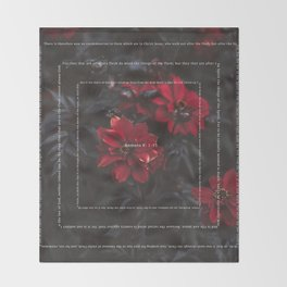 Romans 8:1-13 Throw Blanket