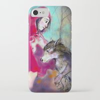 red hood iPhone & iPod Cases featuring red hood by AliluLera