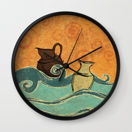 THE TWO POTS Wall Clock