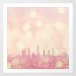 City of Dreamers. Los Angeles skyline photograph Art Print