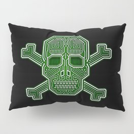 Hacker Skull Crossbones (isolated version) Pillow Sham
