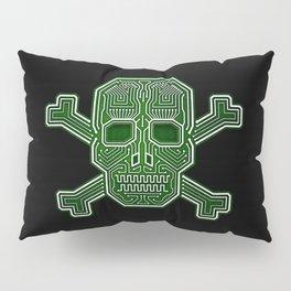 Hacker Skull Crossbones (isolated version) Pillow Sham