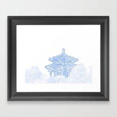 Zen temple in the cloud Framed Art Print