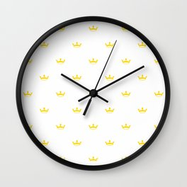 Yellow Crown pattern Wall Clock