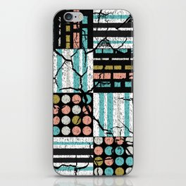 Distressed pattern iPhone Skin