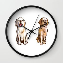 Retrievers just can't help themselves Wall Clock