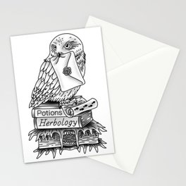 Hedwig On Books Stationery Cards