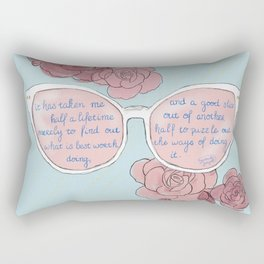 Le Vie en Rose Rectangular Pillow