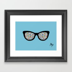 Heart Eyes Framed Art Print