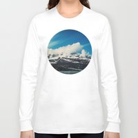 alaska Long Sleeve T-shirts featuring Alaska Mountain by Leah Flores