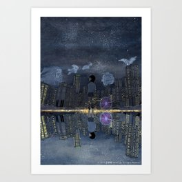 童話與現實的邊緣 Living between Fairy Tale and Reality Art Print