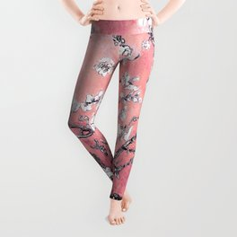 Van Gogh Almond Blossoms : Peachy Pink Leggings