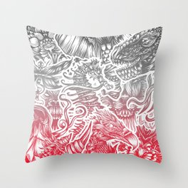 Animals color Throw Pillow