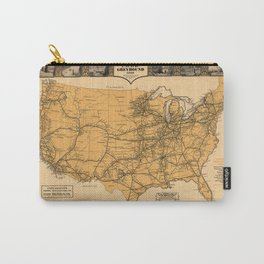 Greyhound Bus Line Map 1935 Carry-All Pouch
