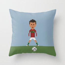Ronaldo Free kick (Portugal) Throw Pillow