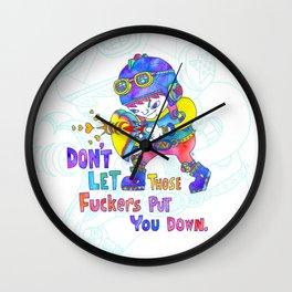 No Fuckers! Wall Clock