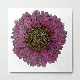 Pink Flower Drawing/ Illustration Metal Print