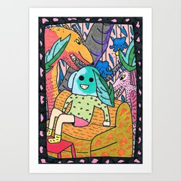 Sick Couch Art Print