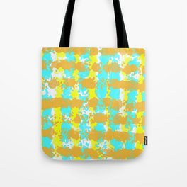 painting lines background in orange yellow and blue Tote Bag
