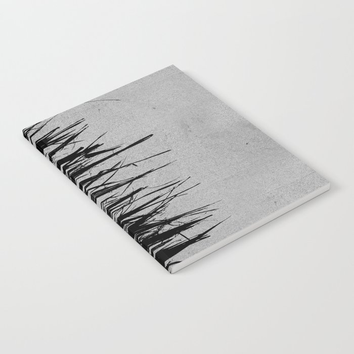 Concrete Fringe Black on Side Notebook