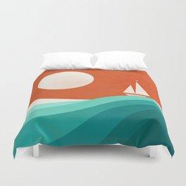 Wave (night) Duvet Cover