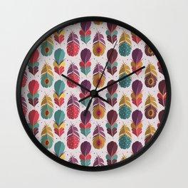 Batik Style Wall Clock