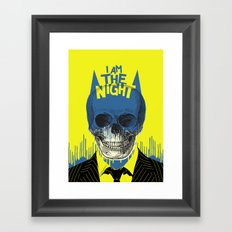 I Am The Night Framed Art Print