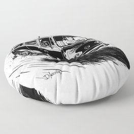at full speed Floor Pillow