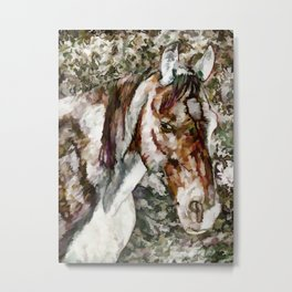 Portrait of Red Horse Metal Print