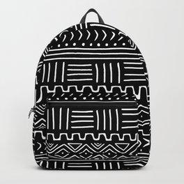Mud Cloth on Black Backpack