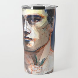 JAMES, Semi-Nude Male by Frank-Joseph Travel Mug