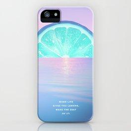 When life gives you lemons - Surreal Lemon Collage Sunset iPhone Case