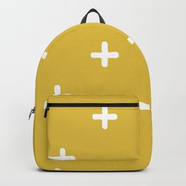 White Crosses on Gold Background Backpack