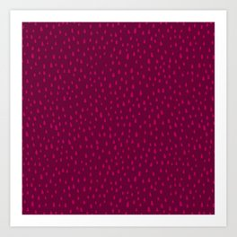 Raspberry Paint Drops Art Print